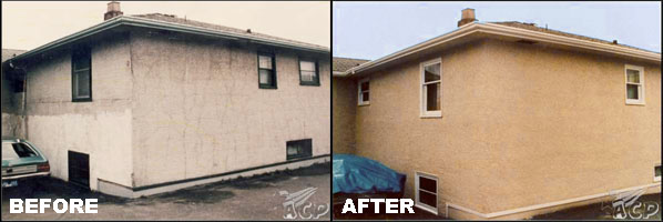 Before and After Shots of Liquid Vinyl Siding